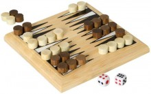 Mini Bamboo Backgammon