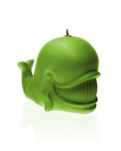 Whale Candle - Pearl Lime