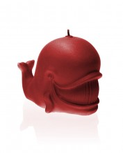 Whale Candle - Pearl Red