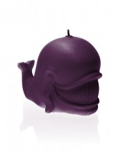 Whale Candle - Pearl Purple