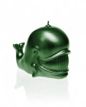 Whale Candle - Metallic Green