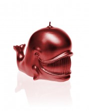Whale Candle - Metallic Red