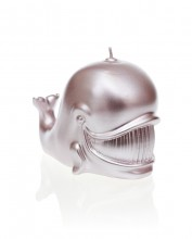 Whale Candle - Metallic Silver