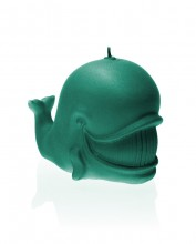 Whale Candle - Pearl Turquoise