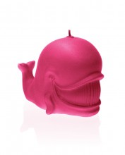 Whale Candle - Pearl Dark Pink