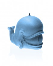 Whale Candle - Pearl Light Blue