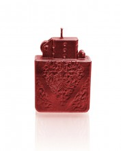Candle lighter - red metallic