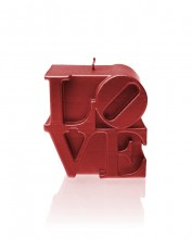 LOVE Candle - Metallic Red