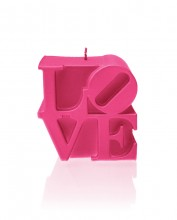 LOVE Candle - Pearl Dark Pink