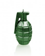 XL Grenade Candle - Metallic Green