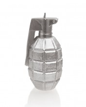 XL Grenade Candle - Metallic Silver