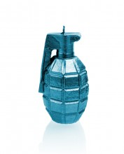 Grenade Candle - Metallic Blue