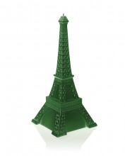 XXL Eiffel Tower Candle - Green Metallic
