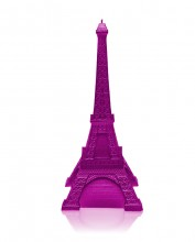 XXL Eiffel Tower Candle - Metallic Pink