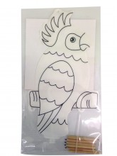 Inflatable Parrot for Colouring