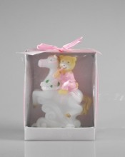 Teddy Bear on a Horse Candle