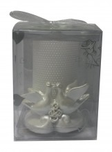Doves Decorative Candle