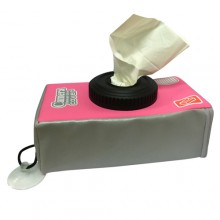 Camera Tissue Box Cover - Pink