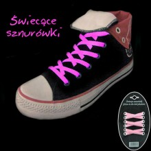 Glow-in-the-Dark Shoelaces - Pink