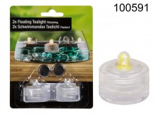 Floating LED Tealight (set of 2)