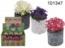 Artificial Flowers in a Pot