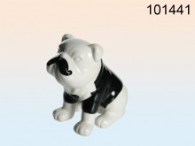 Dog with Mustache Figurine