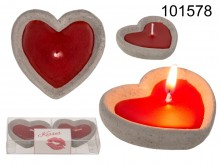 Heart candles, set of 2 in a box