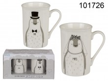 Mr & Mrs Penguin Mugs