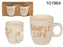 Set of 2 Simple Life cups