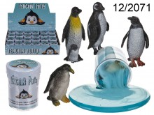Gel Putty with Penguin Figurine