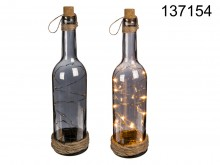 Bottle with LEDs