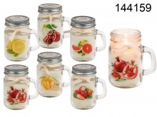 Fruit-scented Candle in Mason Jar