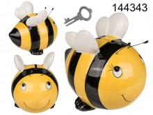 Ceramic piggy bank bee