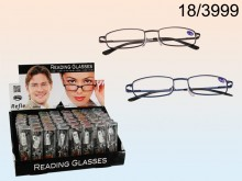 Reading Glasses with Metal Frames in PVC Case