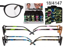 Reading Glasses with Camouflage Pattern