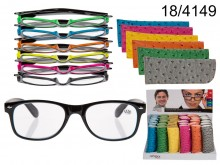 Reading Glasses with Neon Case