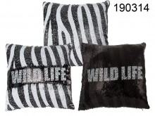 Black/white Wild Life Cushion