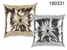 Cushion with Metallic Finish