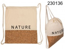 Cotton backpack with a natural style cork bottom