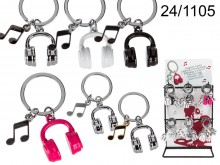 Headphones and Music Note Keychain