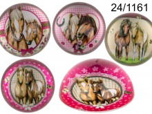 Glass Paperweight with Horses