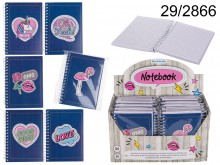 Girly spiral notebook