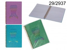 Glittery A5 Mermaid's Tail Spiral Notepad