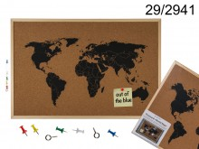 World Map Pin Board (Cork)