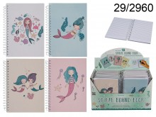 Mermaid-themed Spiral Notebook