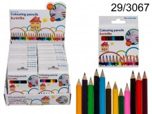 Mini Wooden Coloured Pencils (12 pieces)