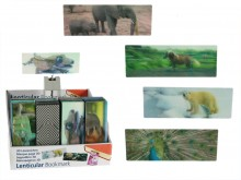 Bookmark with a 3D picture - animals