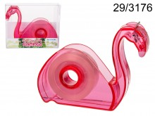 Flamingo Tape Dispenser with Tape