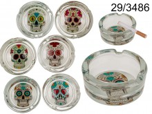 Glass Skull Ashtray
