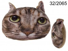 Cat Face Cushion -Brown